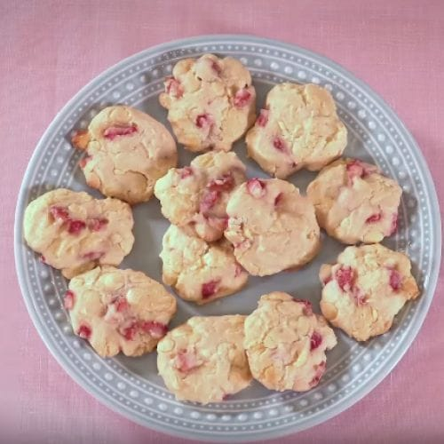 Strawberry And Cream Drop Scones