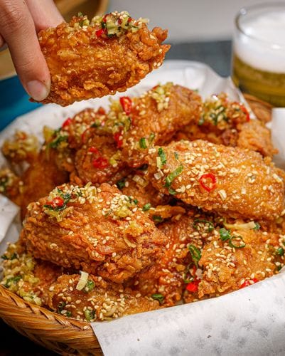 Lemongrass Chilli Fried Chicken Wings