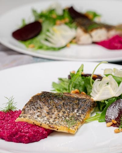 Beetroot Grilled Barramundi