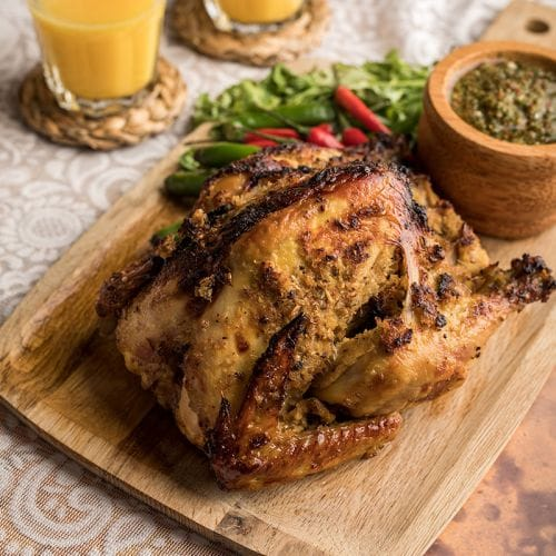 Spiced Roast Chicken with Asian Chimmichurri
